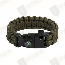 Bracelet de survie EDCX Cobra (Vert Armée)
