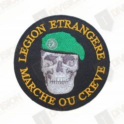 """Ecusson Légion Etrangère """"Marche ou crève"""""""