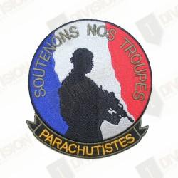 "Ecusson parachutistes ""Soutenons nos troupes"""