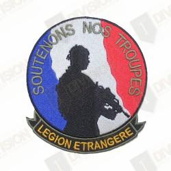 """Ecusson Légion Etrangère """"Soutenons nos troupes"""""""