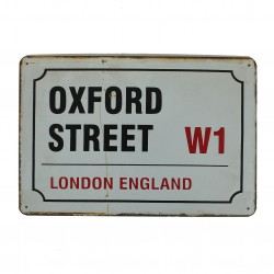 "Plaque vintage ""Oxford Street London England"""