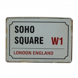 "Plaque vintage ""Soho Square London England"""