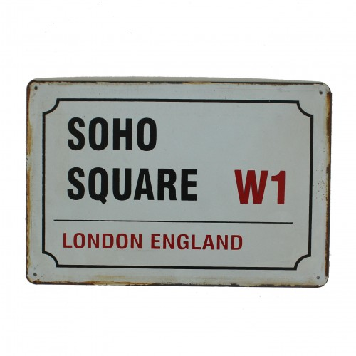 "Plaque vintage ""Soho Square London England"""