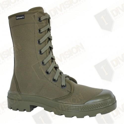 Chaussures en toile Wissart (vert armée)