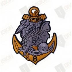 Ecusson 8ème Régiment de Parachutistes d'Infanterie de Marine (8ème RPIMa)