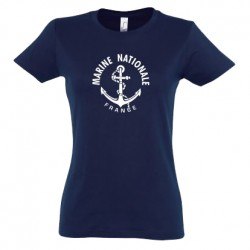 T-shirt Marine Nationale (femme)