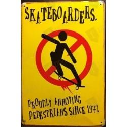 "Plaque vintage ""Skate boarders"""