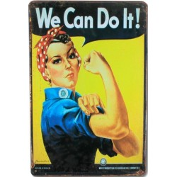 """Plaque vintage """"We can do it"""""""